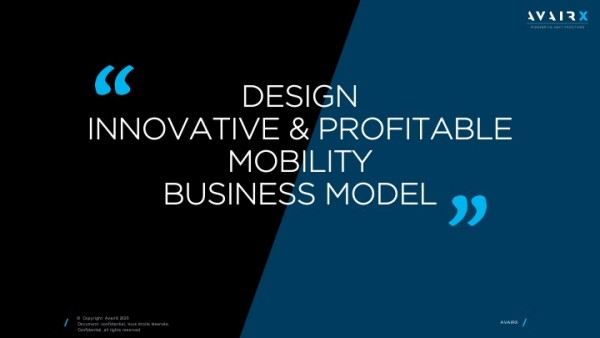 Workshops and Training : DESIGN an INNOVATIVE & PROFITABLE MOBILITY BUSINESS MODEL